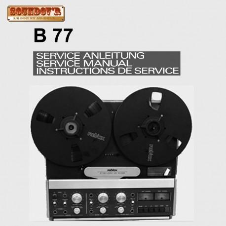 DOCUMENTATION TECHNIQUE REVOX MODEL B77