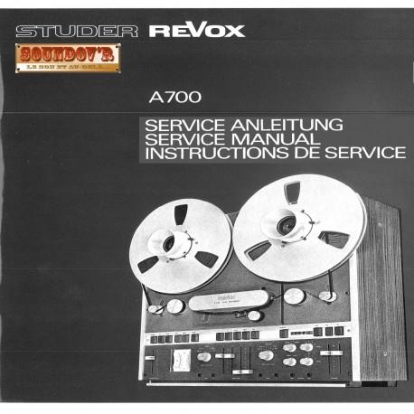 DOCUMENTATION TECHNIQUE REVOX A700