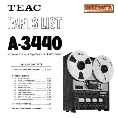 DOCUMENTATION TECHNIQUE TEAC 3440